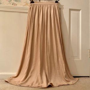 American Eagle Satin Taupey-Pink Maxi Skirt, XS